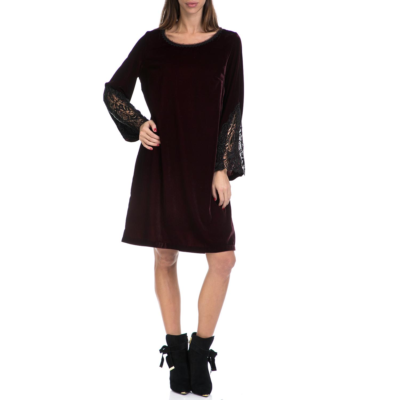 VS - Γυναικείο φόρεμα VS μαύρο-μπορντό