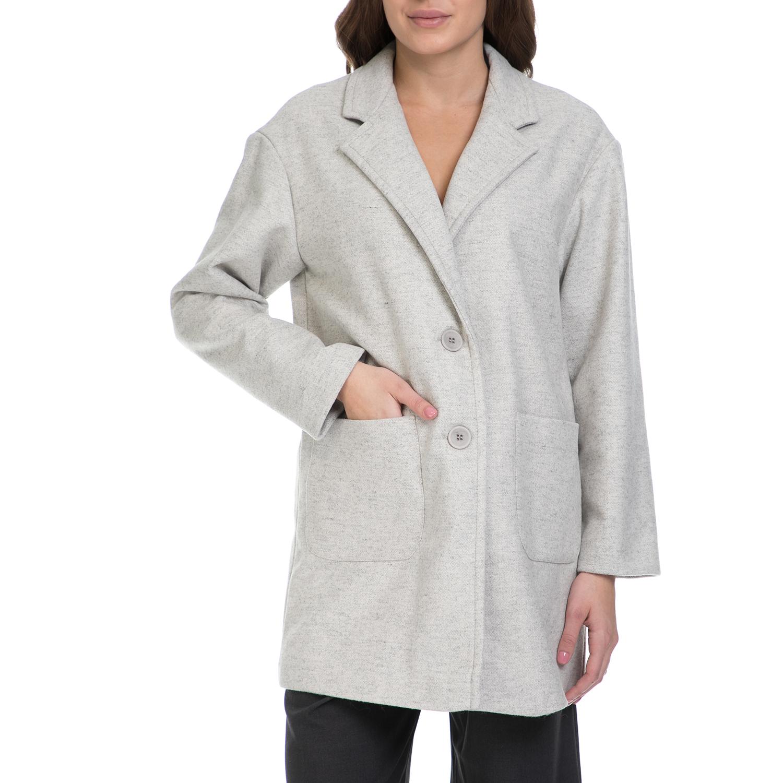 J'AIME LES GARCONS – Γυναικείο παλτό J'AIME LES GARCONS γκρι