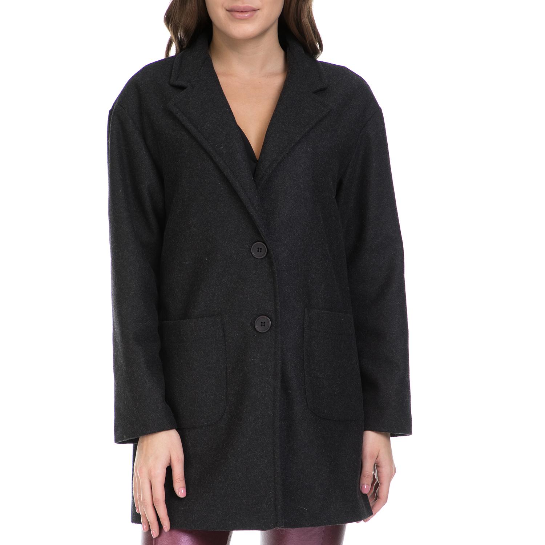 J'AIME LES GARCONS – Γυναικείο παλτό J'AIME LES GARCONS μαύρο