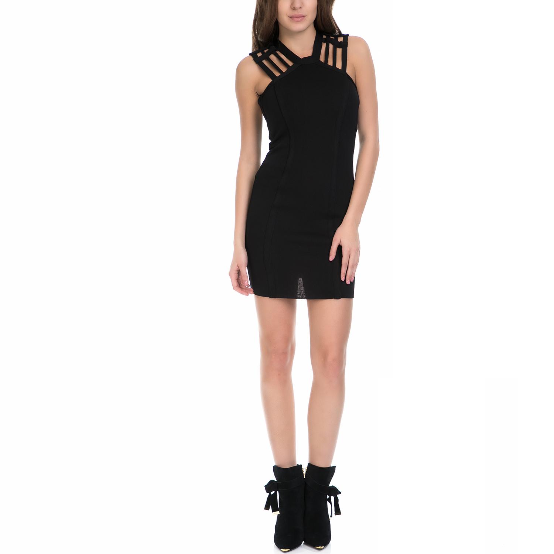 MY TIFFANY - Γυναικείο φόρεμα MY TIFFANY μαύρο γυναικεία ρούχα φορέματα μίνι