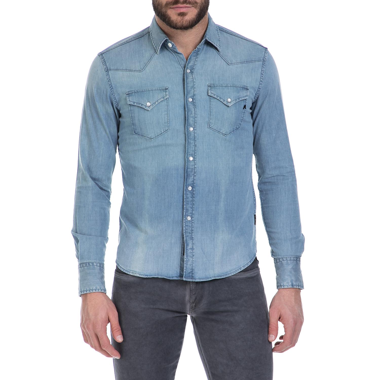 f20792e2003 REPLAY - Ανδρικό τζιν πουκάμισο REPLAY