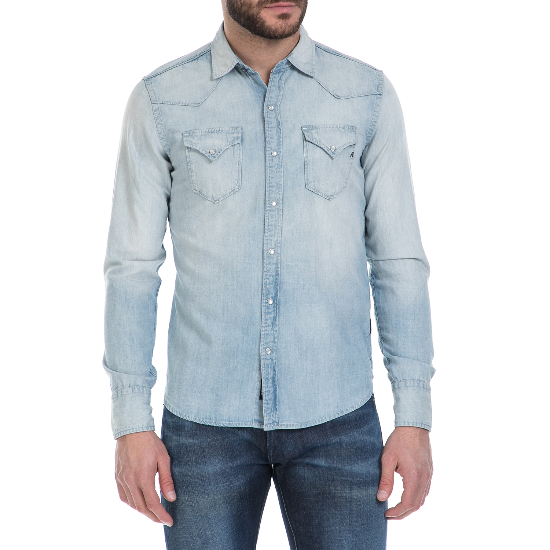 REPLAY – Ανδρικό τζιν πουκάμισο REPLAY