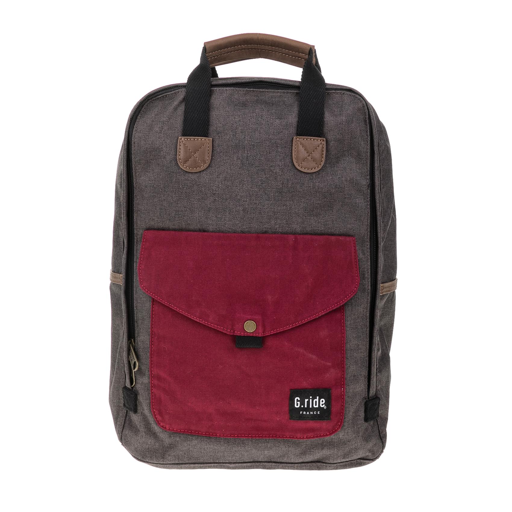 G.RIDE – Τσάντα πλάτης BENEDICTE γκρι-καφέ 1641741.0-K100