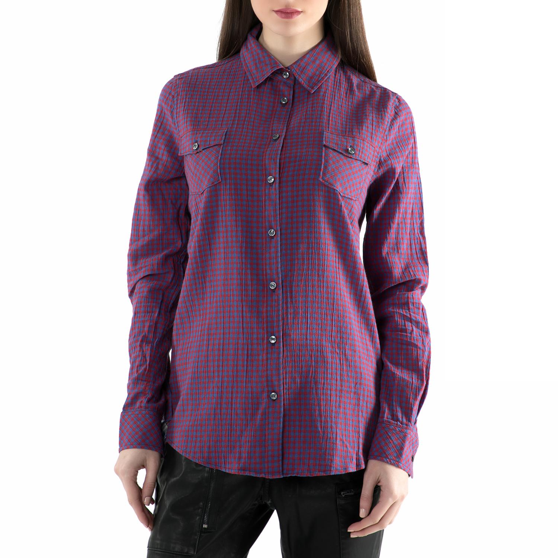 REPLAY – Γυναικείο πουκάμισο REPLAY μοβ με καρό μοτίβο