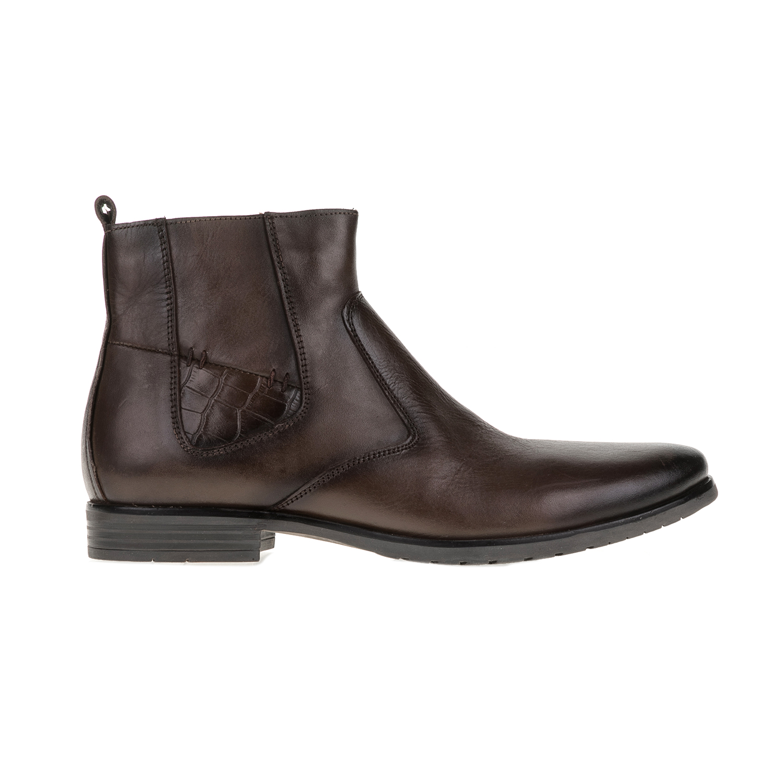 FREEMOOD-CANGURO - Ανδρικά μποτάκια Freemoo - Canguro καφέ ανδρικά παπούτσια μπότες μποτάκια μποτάκια