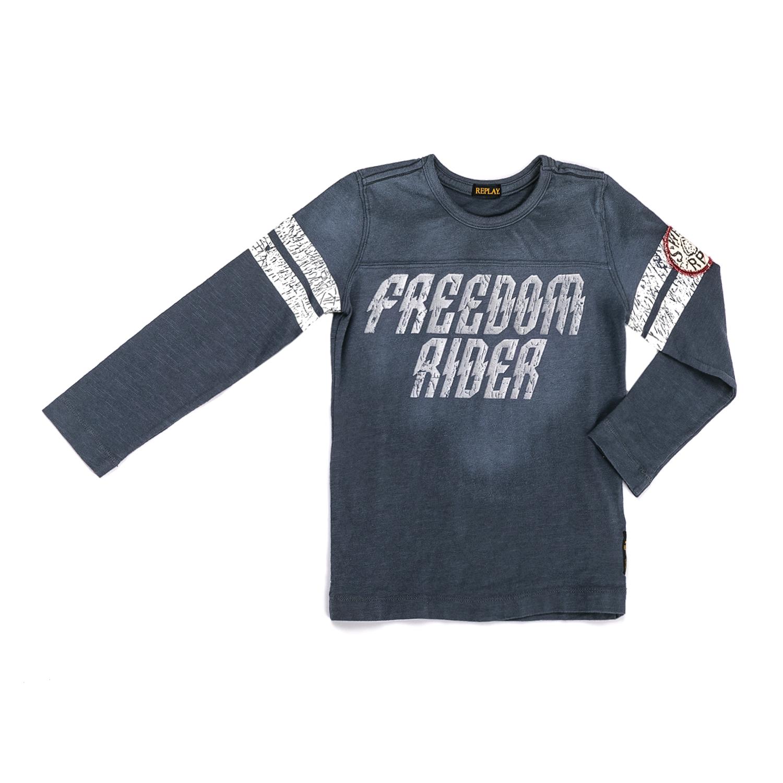 REPLAY – Παιδική μακρυμάνικη μπλούζα Replay γκρι