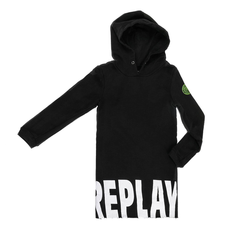 REPLAY – Παιδικό μακρυμάνικο φόρεμα Replay μαύρο