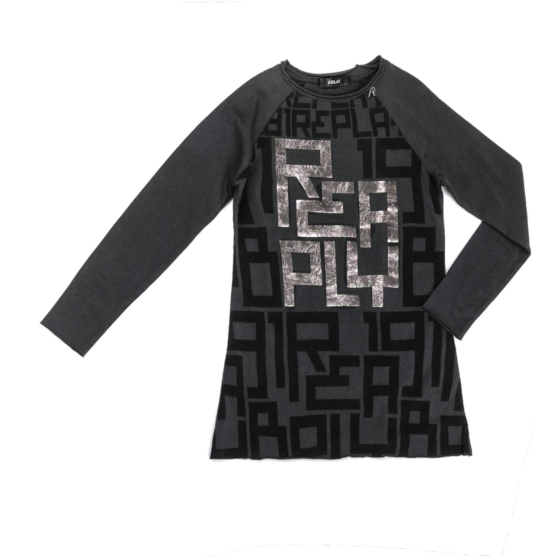 REPLAY – Παιδικό μακρυμάνικο φόρεμα Replay γκρι