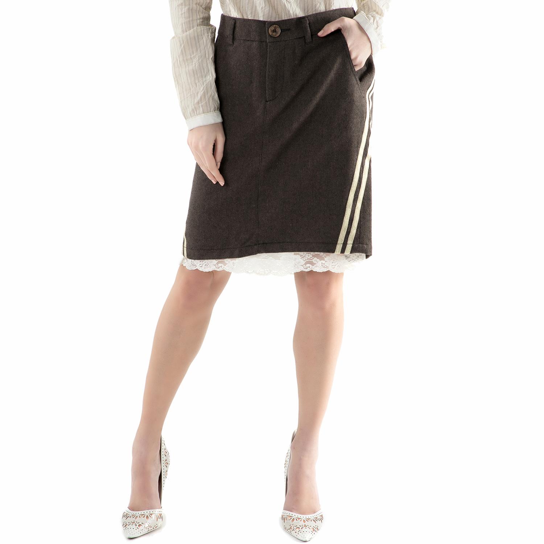 REPLAY - Μίντι φούστα REPLAY καφέ  7cfefd6b56f