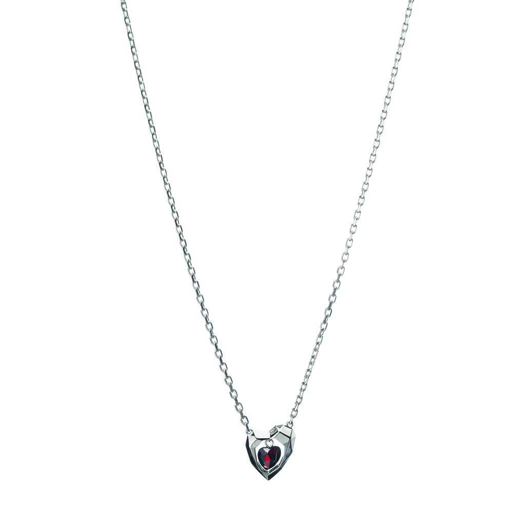 LINKS OF LONDON – Ασημένιο κολιέ Flutter & Wow Heart Garnet