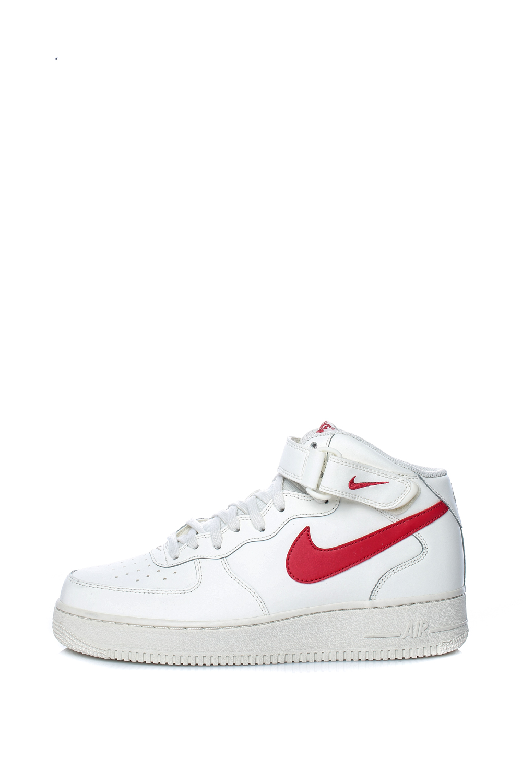 NIKE – Ανδρικά αθλητικά μποτάκια AIR FORCE 1 MID '07 λευκά-κόκκινα