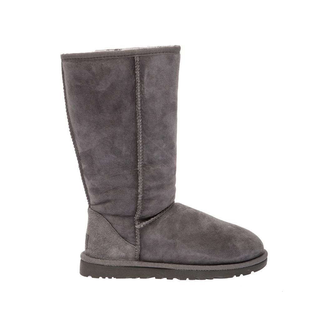UGG AUSTRALIA - Γυναικείες μπότες Ugg Australia γκρι γυναικεία παπούτσια μπότες μποτάκια μπότες