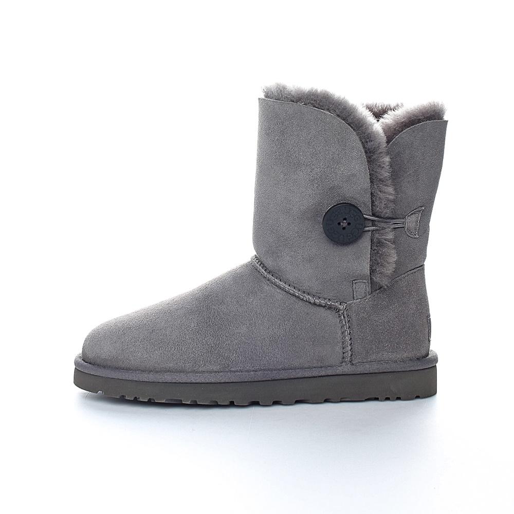 UGG - Γυναικεία μποτάκια BAILEY BUTTON UGG AUSTRALIA γκρι γυναικεία παπούτσια μπότες μποτάκια μποτάκια